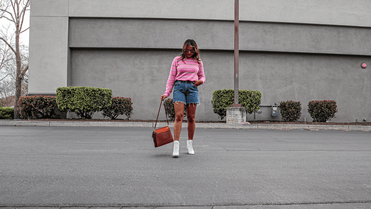 California Spring - Shorts, Sweater & Boots - A Story