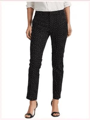 Lauren Ralph Lauren Polka-Dot Print Pants