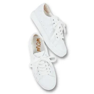 Sma Edelaman White Leather Sneakers