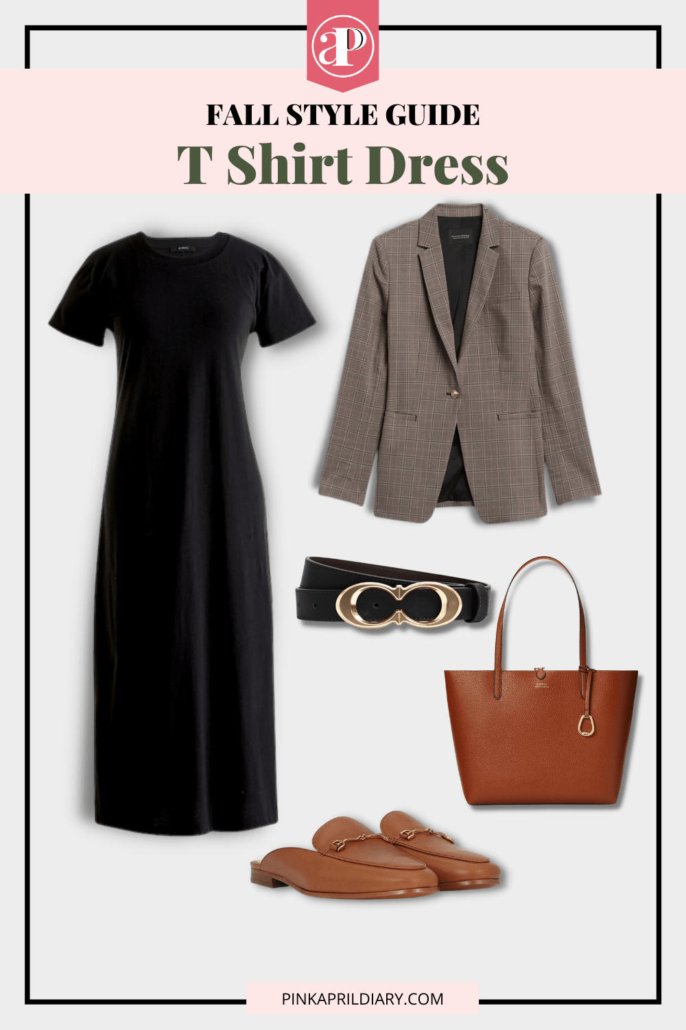 Fall Styling for a T Shirt Dress - outfit 1