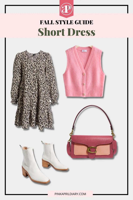 Short Dress Fall Layering idea - outfit 2