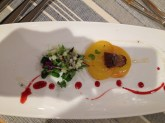 Yellow beetroot, apple salsa, truffle
