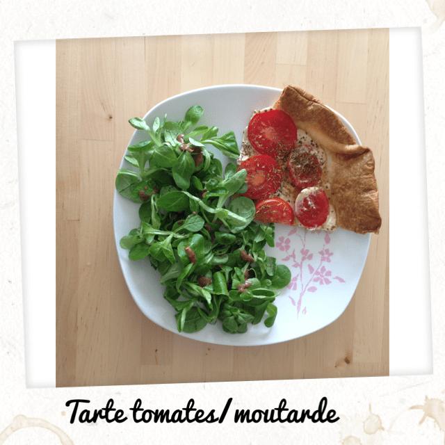 Tarte tomates et salade