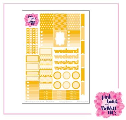 PBTT August Functional Sticker Sheet