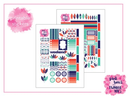 PBTT Feather Frenzy Sticker Kit Two Pages