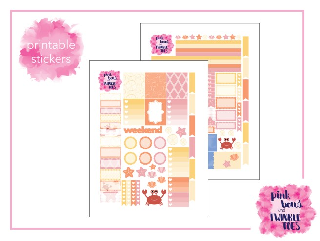 PBTT Sandy Shores Sticker Kit Two Page