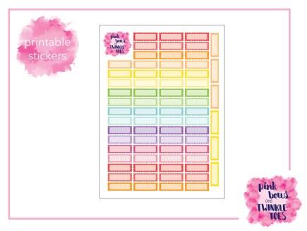 PBTT Scallop Qurater Box Sticker Sheet