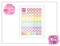 PBTT Scallop Reminder Circles Sticker Sheet