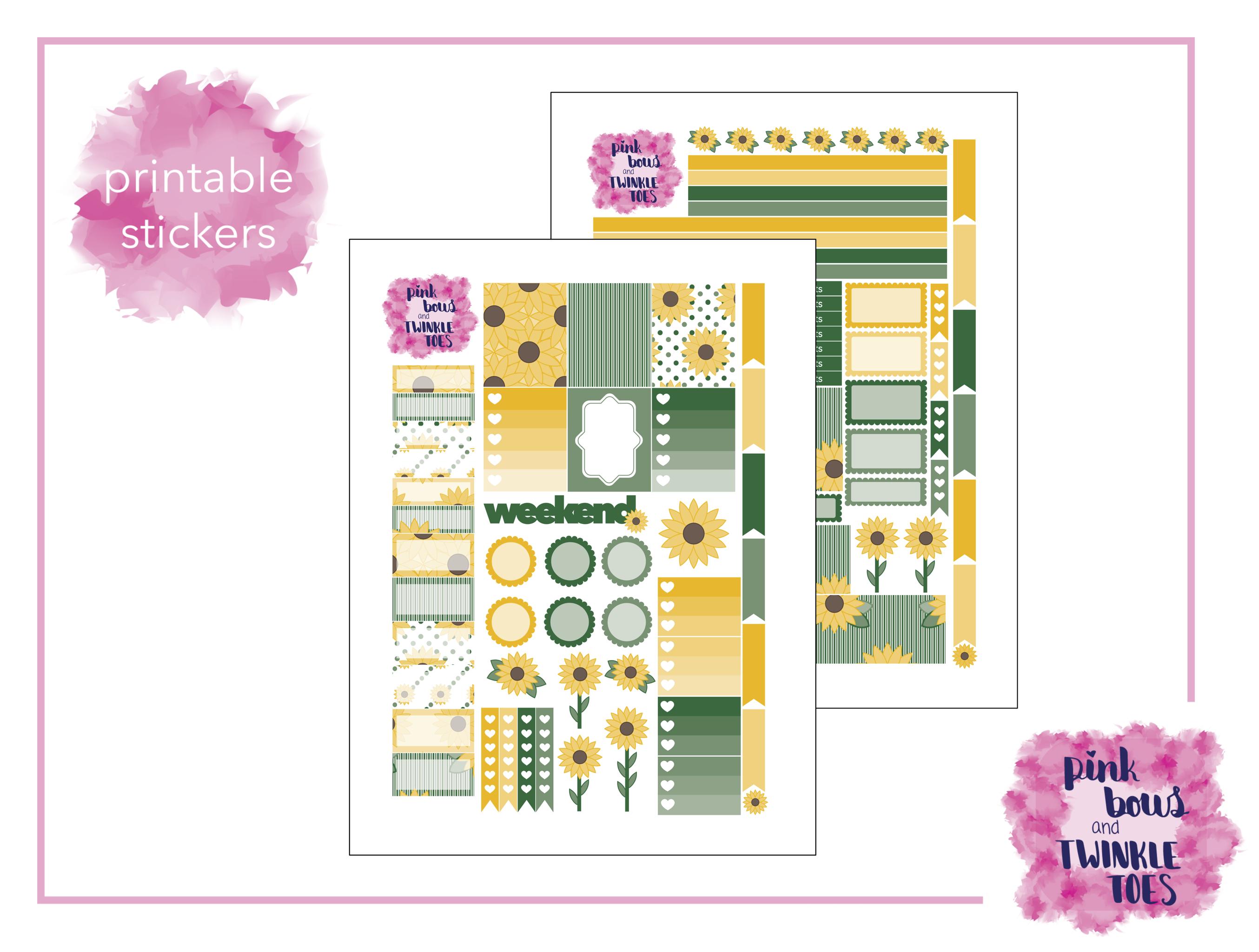 PBTT Sunflower Summer Sticker Kit Two Page