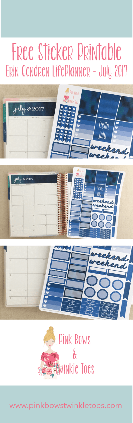 July Functional Planner Stickers: Free Printable