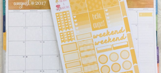 August Functional Planner Stickers: Free Printable - Pink Bows & Twinkle Toes