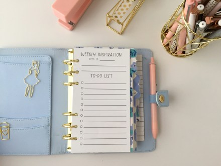 Personal Size, Weekly To-Do Insert: Free Planner Printable