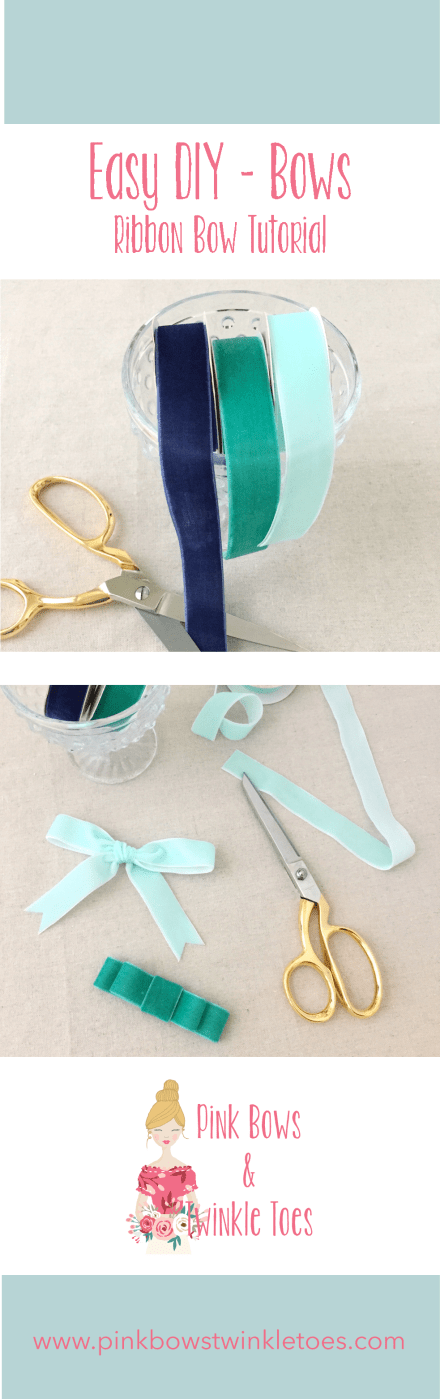 Easy DIY: Velvet Ribbon Bows - Pink Bows & Twinkle Toes