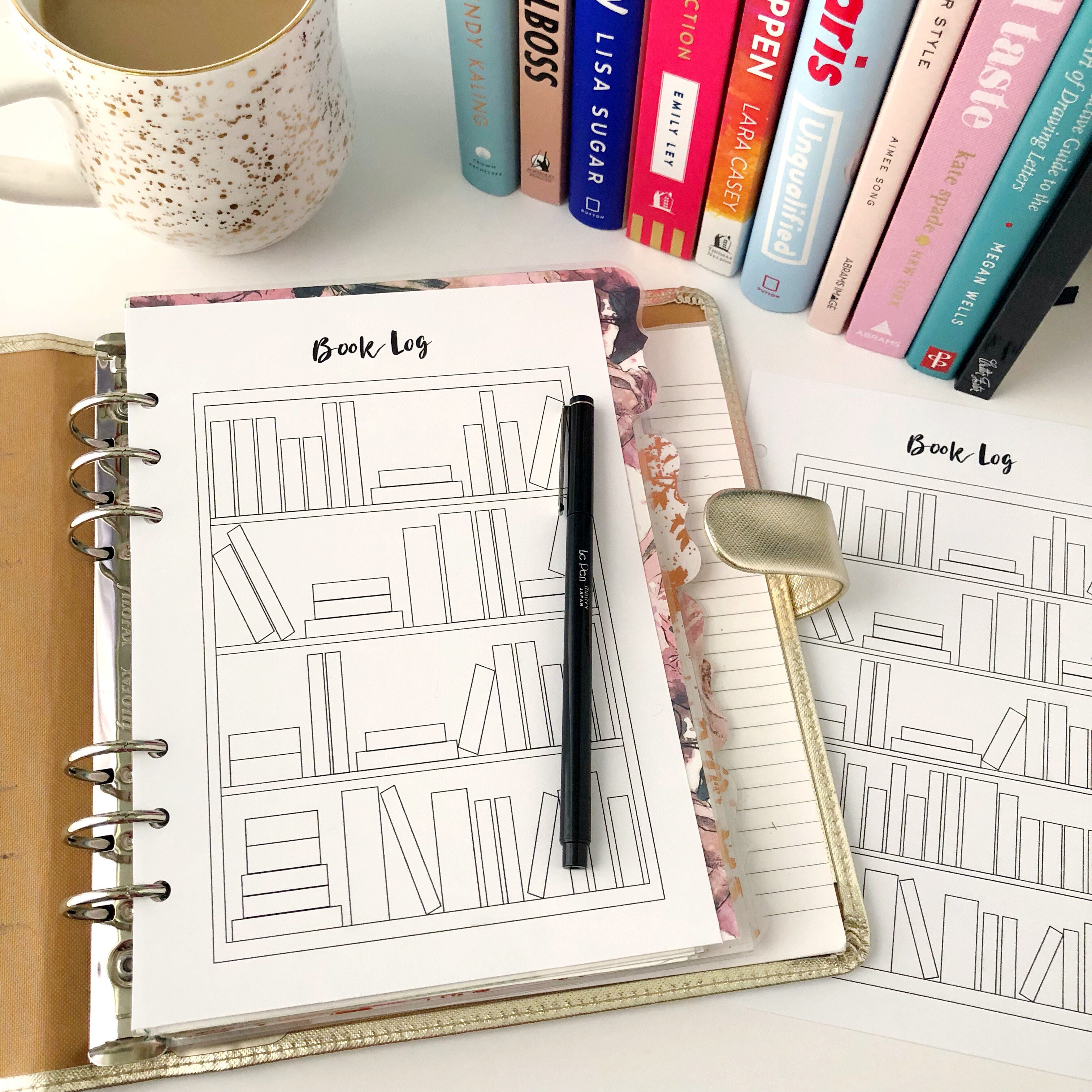 photograph about Book Log Printable known as Looking at Guide Log: Absolutely free A5 Planner Printable - Crimson Bows