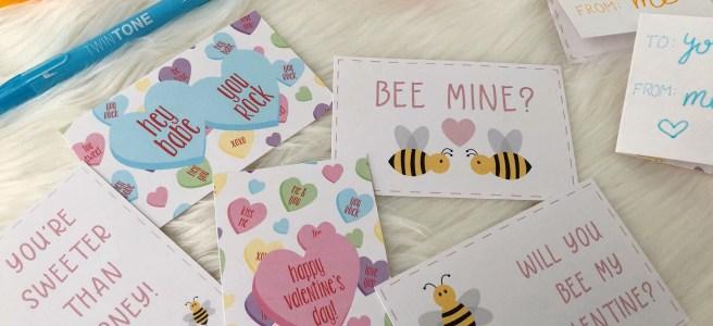 Holiday Freebie: DIY Printable Valentines - Pink Bows & Twinkle Toes