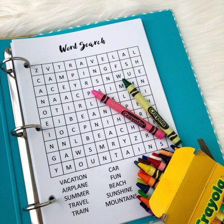 Word Search Game - Free Printable Insert - Pink Bows & Twinkle Toes