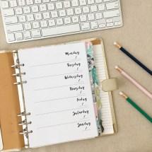 Weekly Planner Printable - Top 5 School Supplies - Pink Bows & Twinkle Toes