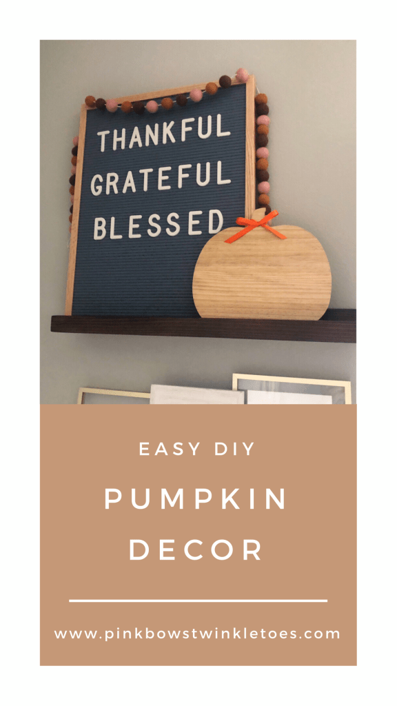 Easy DIY Pumpkin Home Decor - Pink Bows & Twinkle Toes