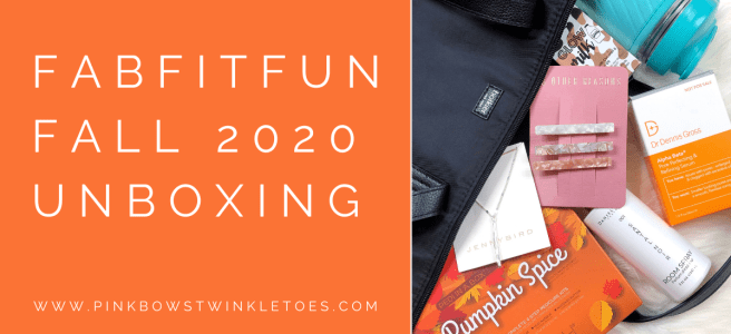 FabFitFun Fall 2020 Review - Pink Bows & Twinkle Toes