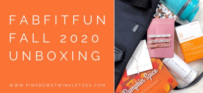 FabFitFun Fall 2020 Review - Pink Bows & Twinkle Toes