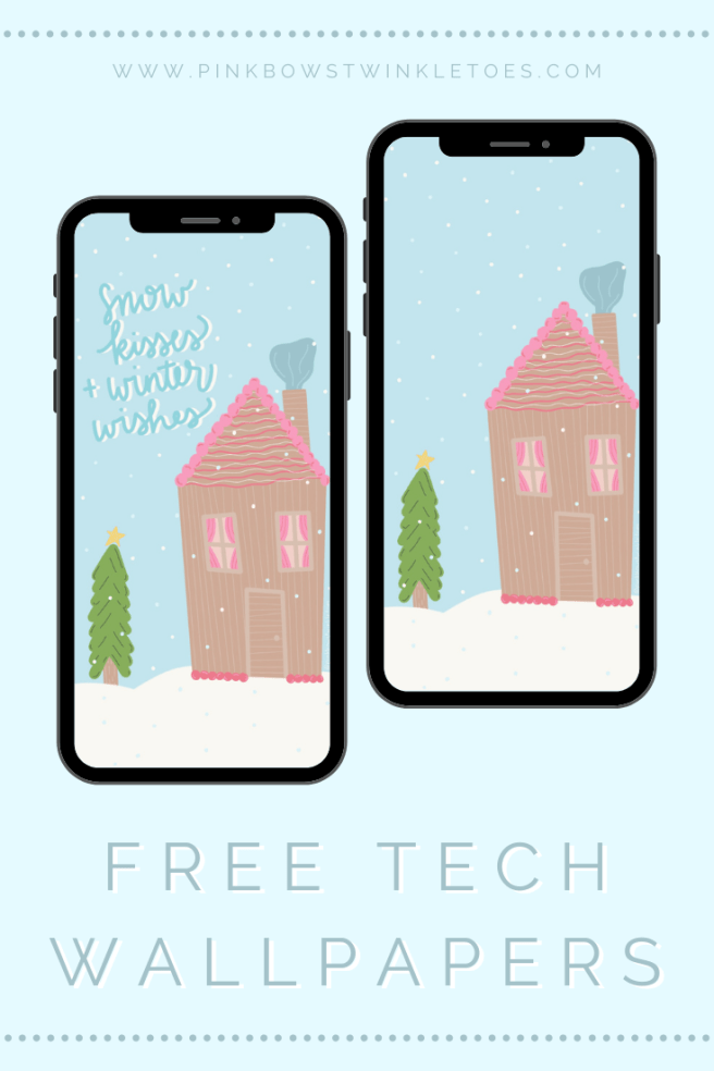Free Download Gingerbread House Lockscreen - Pink Bows & Twinkle Toes