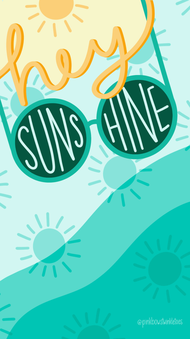 Hey Sunshine Tech Wallpapers - Pink Bows & Twinkle Toes