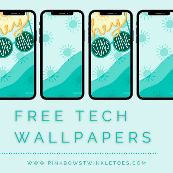 Summer Tech Wallpapers - Pink Bows & Twinkle Toes