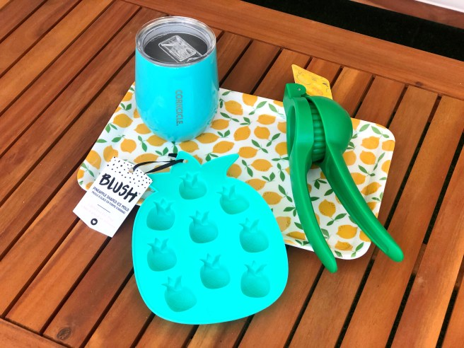 Corkcicle, citrus squeezer, pineapple tray - Pink Bows & Twinkle Toes