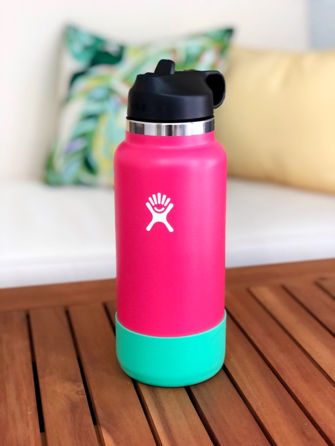 Pink and Green Hydro Flask - Pink Bows & Twinkle Toes
