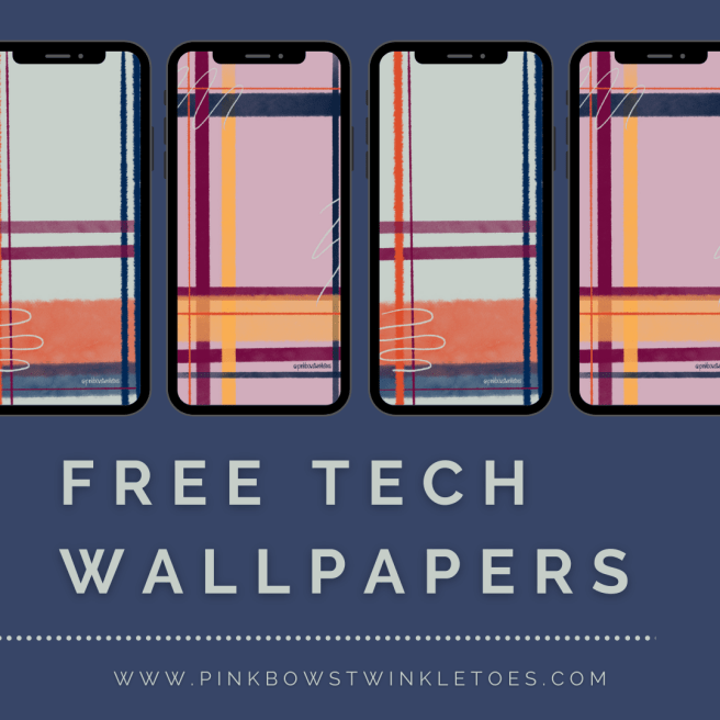 Fall Plaid Tech Wallpapers - Pink Bows & Twinkle Toes