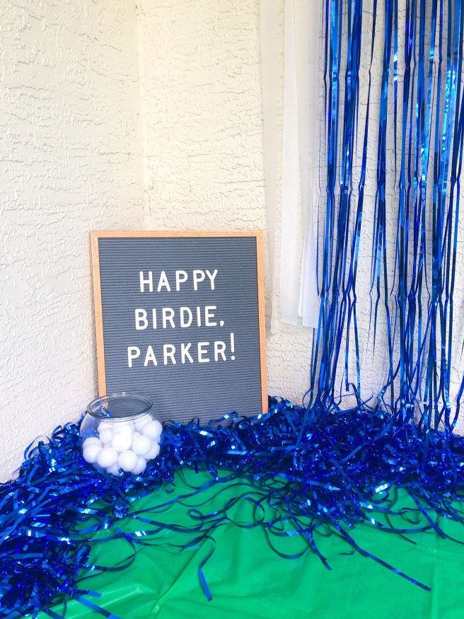 Golf Birthday Party Signage - Pink Bows & Twinkle Toes