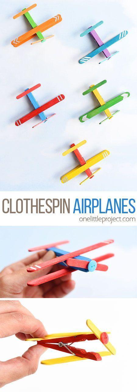 Vliegtuigjes van wasknijpers
