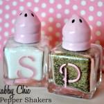 Pink Shabby Chic Salt Pepper Shakers With Martha Stewart Glass Paint Marthaglass Pink Cake Plate