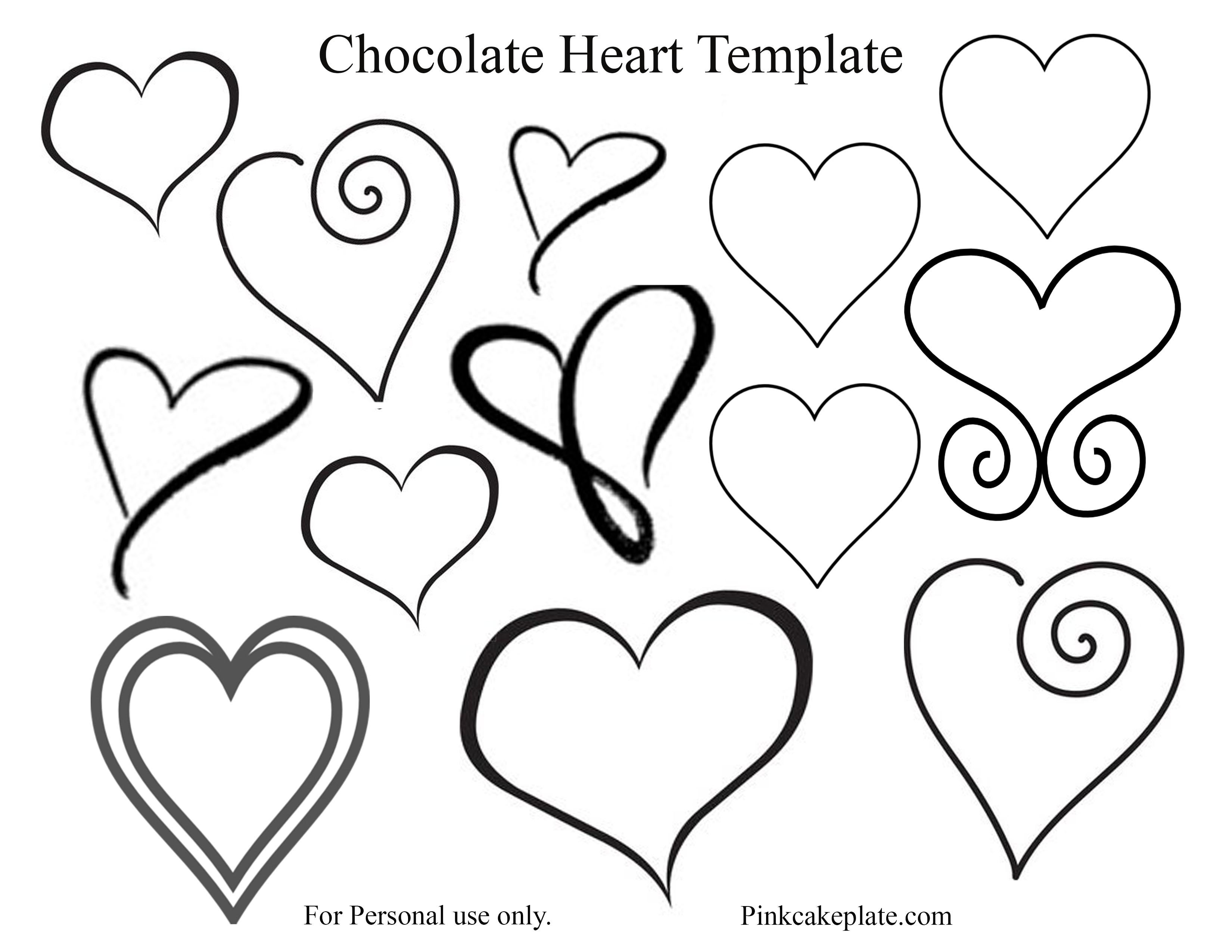 Chocolate Heart Template