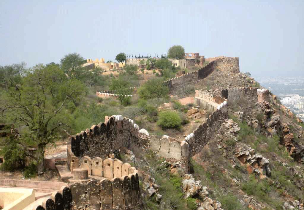 travel_jaipur_nahargarh_fort_fortification_walls