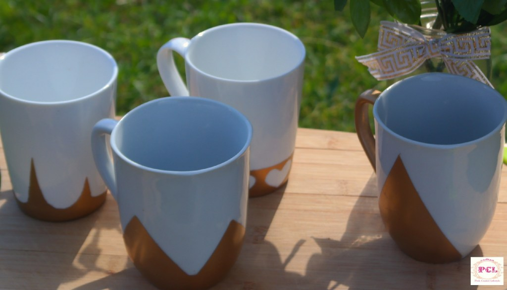 DIY Gold Coffee Mugs