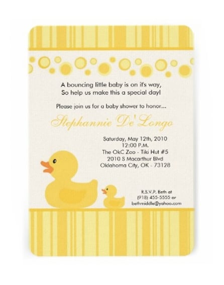 Places Order Baby Shower Invitations