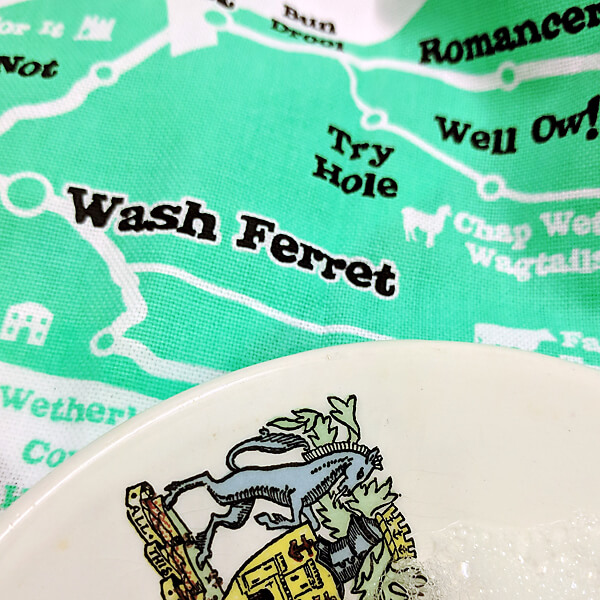 'Lies of Wight' tea towel