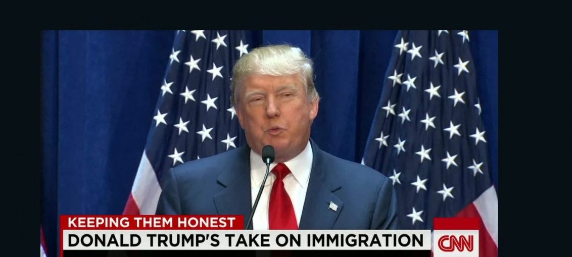 Donald Trump (US president on immigration