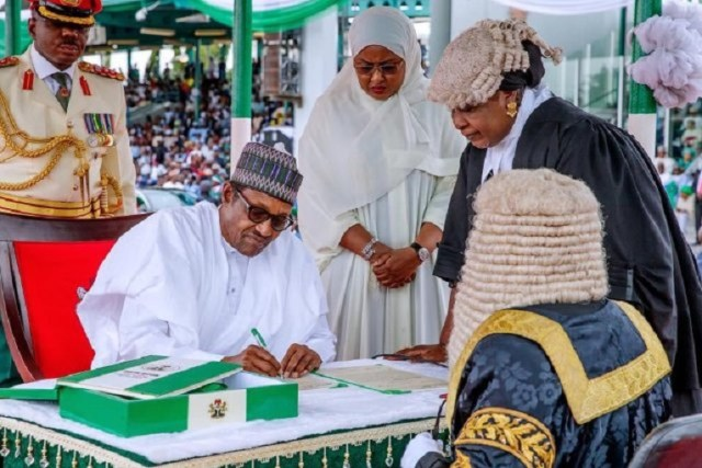 Buhari sworn in for second term as Nigerian president
