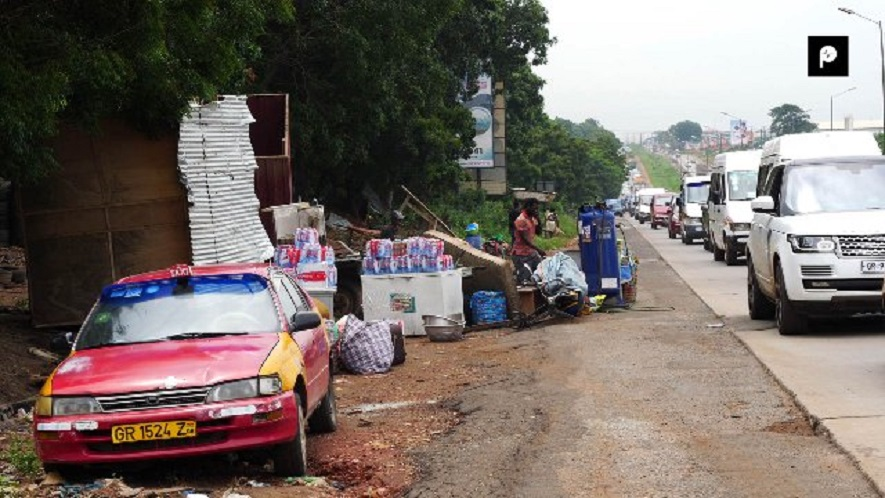 Chaos on Tema motorway as Assembly evicts squatters
