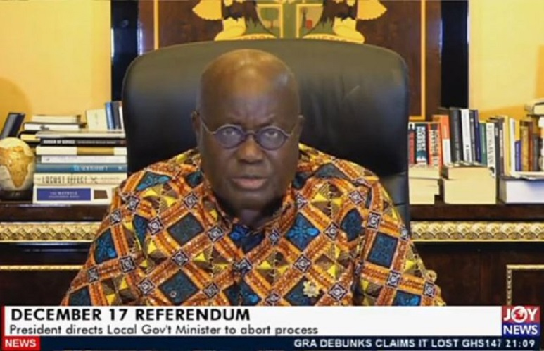 President Akufo-Addo addressed the nation Sunday evenin