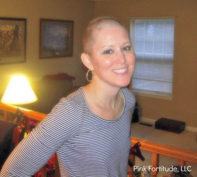 breast cancer bald head