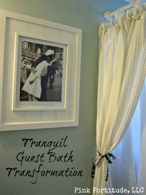 Guest Bathroom Reveal by coconutheadsurvivalguide.com #beachy #nautical