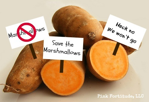 My sweet potatoes have decided to boycott marshmallows this Thanksgiving.  It's like Occupy Thanksgiving in this house! What are the sweet potatoes doing in your house? If you need a new recipe full of antioxidant goodness (and without marshmallows), read on for a dish you will want to make all year round...