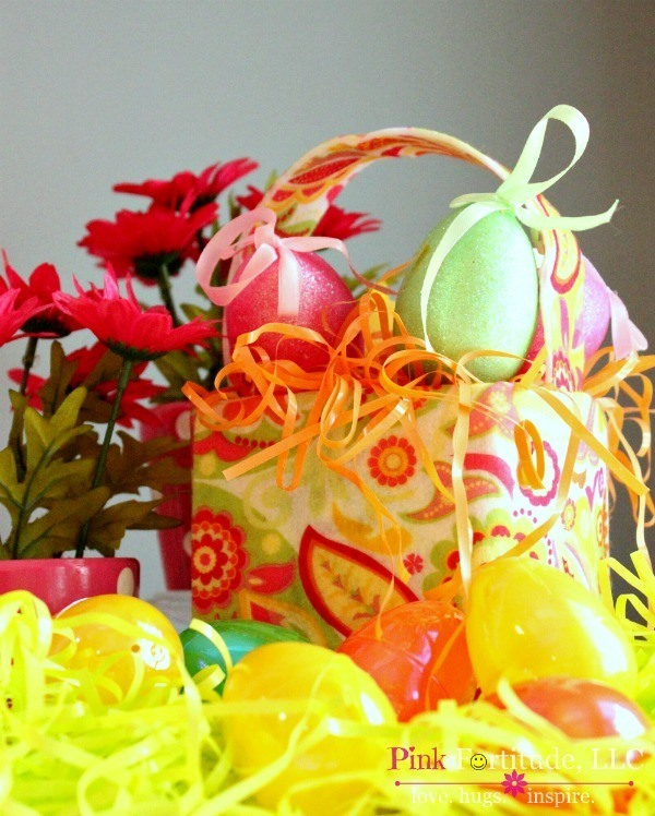 Lilly Pulitzer Inspired Easter Basket Kids Craft with Mod Podge by coconutheadsurvivalguide.com #upcycle #kleenexbox