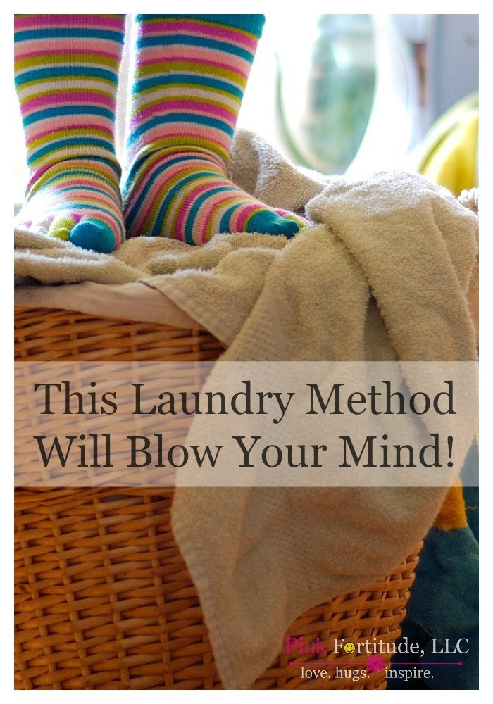 I actually don't mind doing laundry. I've been using the same system for at least 20 years, and it works for me. I've never thought about doing laundry any other way. Until Hubby graciously decided to help one weekend.