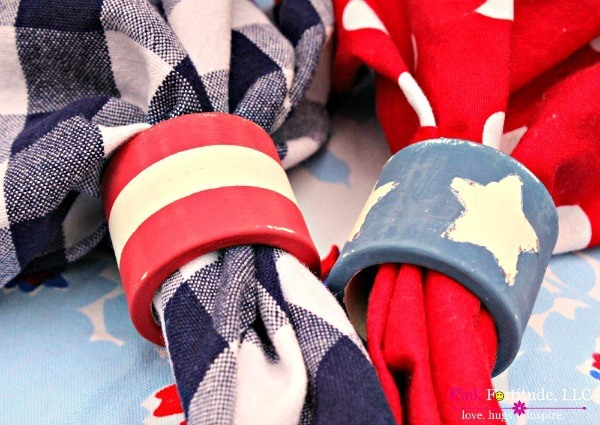 Patriotic DIY Napkin Rings – Trash to Treasure
