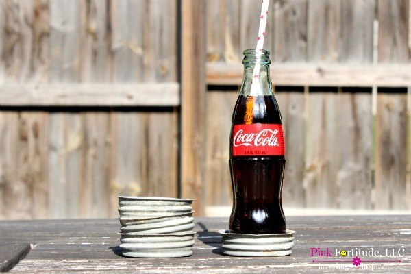 Mason Jar Coaster DIY Trash to Treasure #junkin by coconutheadsurvivalguide.com