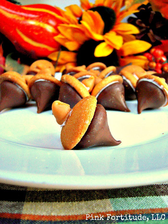 Acorn Treats with Hershey Kisses by coconutheadsurvivalguide.com